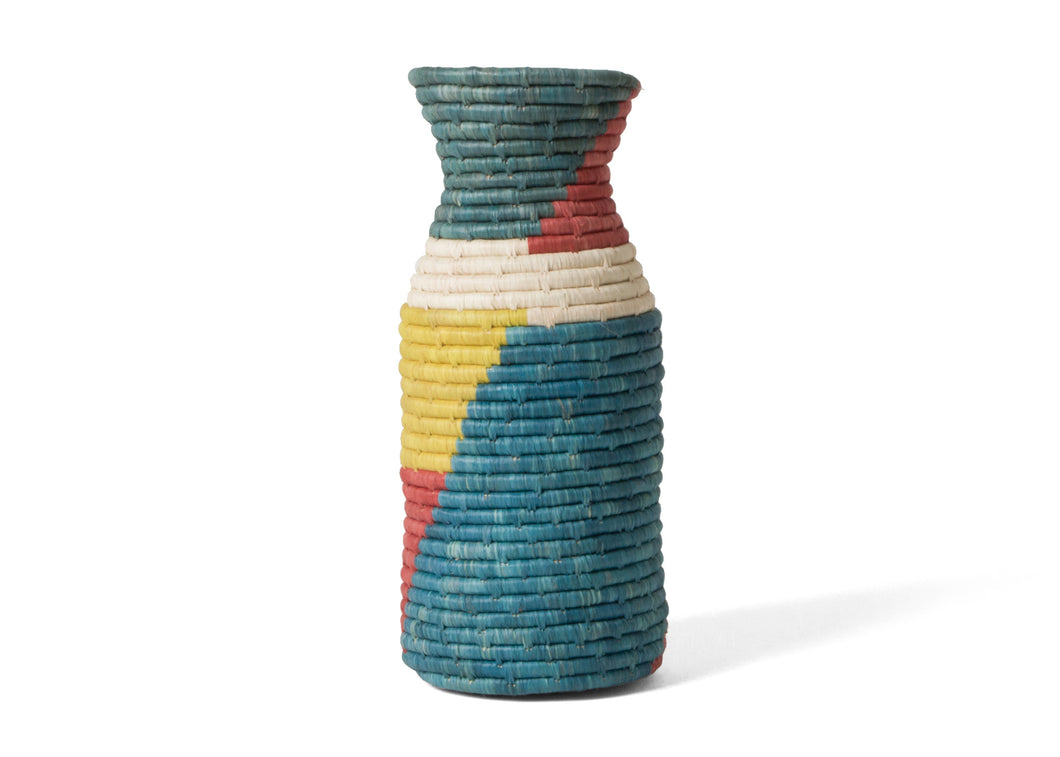 Color Blocked Akagera Vase I - KAZI - Artisan made high quality home decor and wall art