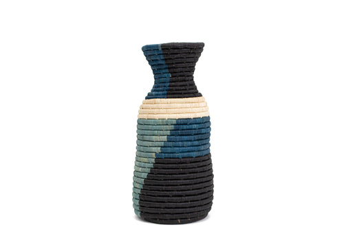 Blue Night Color Blocked Vase