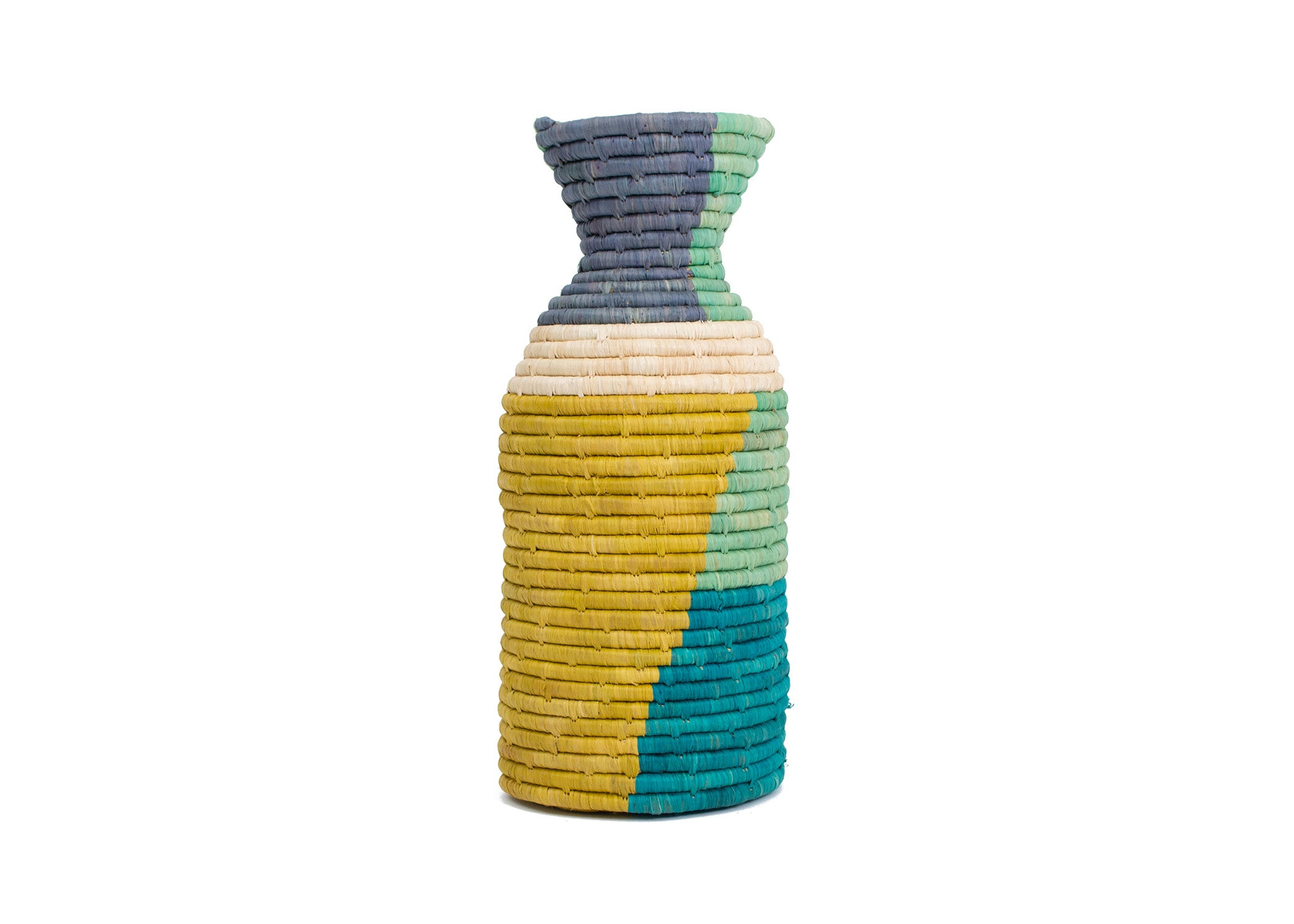 Emerald Bay Color Blocked Vase - KAZI - Artisan made high quality home decor and wall art