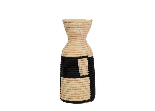 Black Gridded Vase