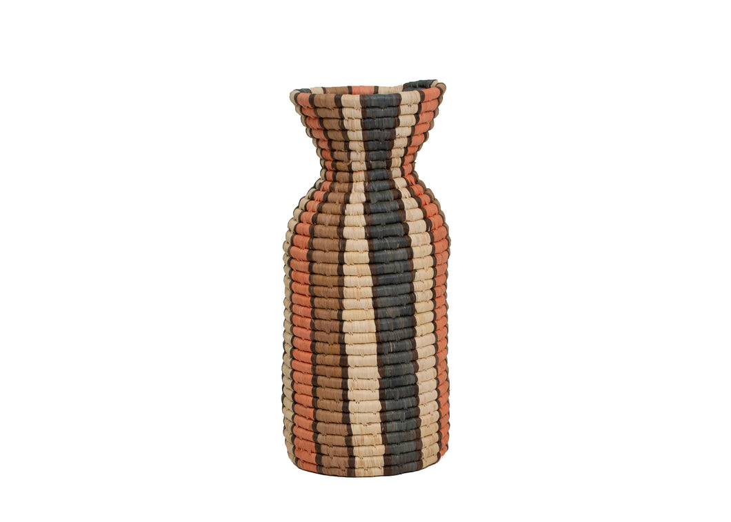 Peach Gridded Milk Bottle Vase - KAZI - Artisan made high quality home decor and wall art