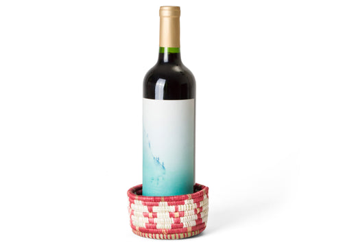 Earth Red Wine Bottle Coaster
