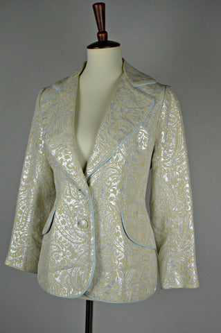 1960's Metallic Brocade Lilli Ann Suit Jacket
