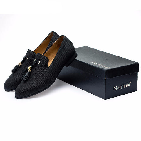 Men's Loafers with Gold Tassel