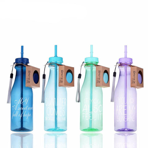 Classic Straw 650ml Water Bottle