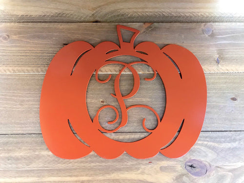 Fall Monogram Pumpkin