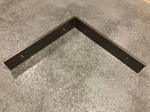 Powder Coated Handcrafted Industrial Bent Metal Shelf Bracket.  1-1/2