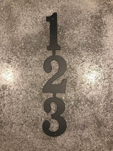 Vertical Metal House Number with 3 Numbers