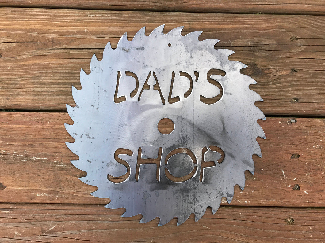 Dad's Shop Circular Saw Sign