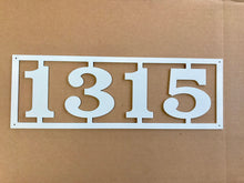 Horizontal Metal House Number with Border  Metal Address Sign   Address Numbers  Mailbox Sign