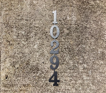 Vertical Metal House Number with 5 Numbers