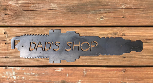 Dad's Shop Spark Plug Sign