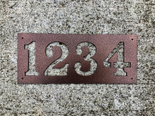 Rectangle Horizontal Metal House Number