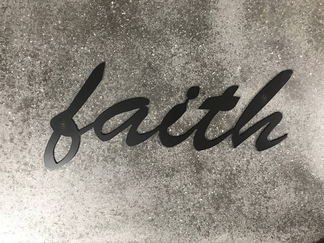 Faith Metal Sign