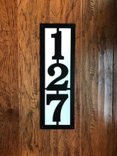 Vertical Metal House Number with 3 Numbers and Back Plate