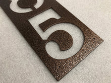 Vertical Rectangle Metal House Numbers