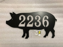 Pig Metal House Number