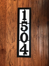 Vertical Metal House Number with 4 Numbers and Back Plate