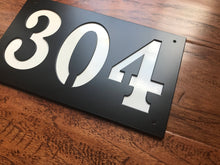 Rectangle Horizontal 3 Number Metal House Number With Back Plate