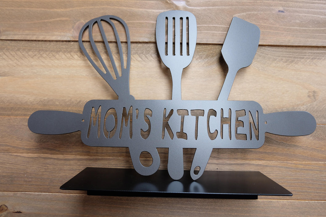 Mom's Kitchen Rolling Pin and Utensils sign / Kitchen Sign / Mom's Kitchen Sign