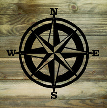 Nautical Compass Metal Sign / Compass Rose /  Nautical Decor / Directional Decor / Home Decor / Metal Wall Decor