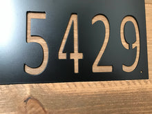 Modern Horizontal Metal House Number