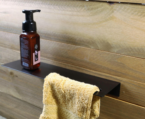 Modern Bathroom Bent Metal Shelf