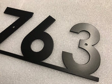 Modern House Number Sign with Bottom Bar / Metal Address Sign / Metal Address Plaque / Address Numbers / Mailbox Sign