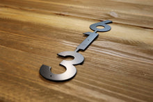 Modern Vertical Metal House Number with 3 Numbers