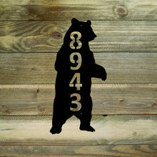 Standing Bear House Number / Metal Bear Address Sign / Address Numbers / Bear Mailbox Sign / Bear Address Sign