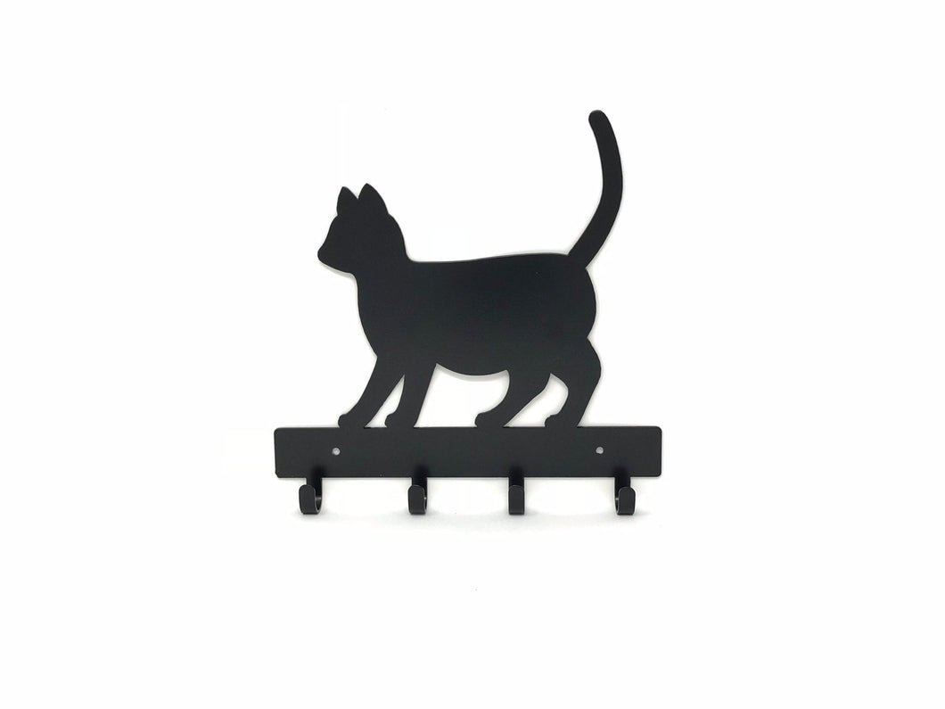 Cat Key Holder / Cat Leash Rack / Cat Key Ring Holder / Cat Home Decor / Cat Wall Decor / Gift for Cat Lover