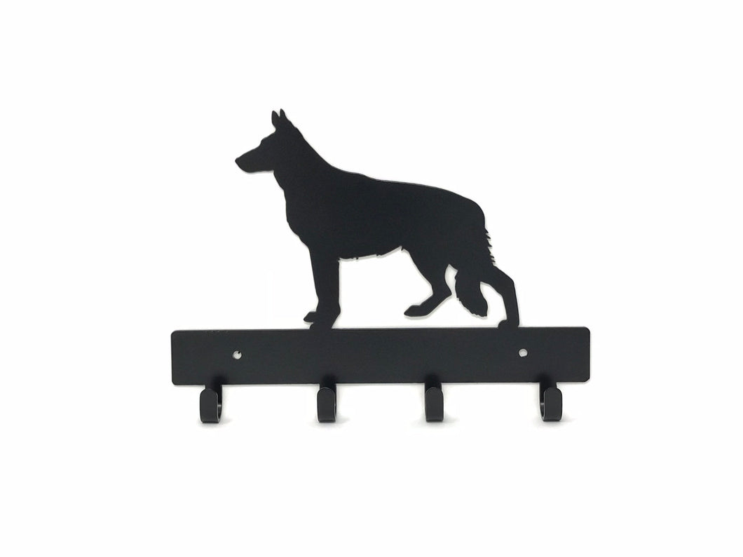 German Shepard Key Holder / Dog Key Ring Holder / Dog Home Decor / Dog Wall Decor / Gift for Dog Lover
