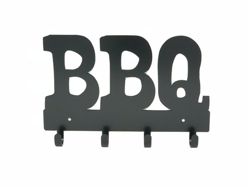 BBQ Utensil Holder / BBQ Key Ring Rack / Metal Grill Utensil Rack / BBQ Wall Decor / Grilling Gift