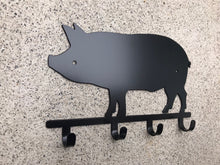 Pig Key Holder / Pig Key Rack / Pig Grilling Hooks / Pig Key Ring Holder / Pig Home Decor / Pig Wall Decor