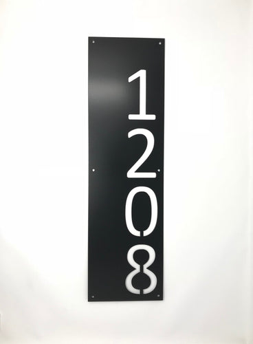 Modern Vertical Metal House Numbers / Metal Address Sign / Address Numbers / Mailbox Sign