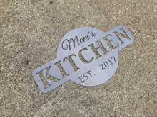 Mom's Kitchen Metal Sign / EST. Kitchen Wall Decor / Grandma's Kitchen / Mother's Day Gift / Decorative Kitchen Decor