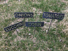 Metal Garden Stakes / Vegetable Stakes / Herb Marker / DIY Garden Decor / Outdoor Gardening / Garden Labels / Plant Markers
