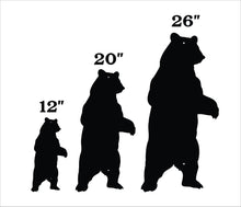 Standing Bear Silhouette / Metal Bear Silhouette / Bear Home Decor / Outdoor Signs / Bear Lover Gift