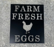 Farm Fresh Eggs Metal Sign / Chicken Egg Decor / Farmhouse Decoration / Farmer's Market Sign / Farm Home Decor / Chicken Gift