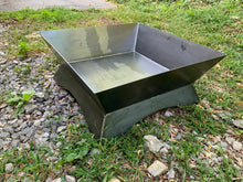 Large 26 Inch Modern Fire Pit / Custom Steel Fire Pit / Portable Fire Pit /  Outdoor Gift / Hunting Gift / Camping Fire