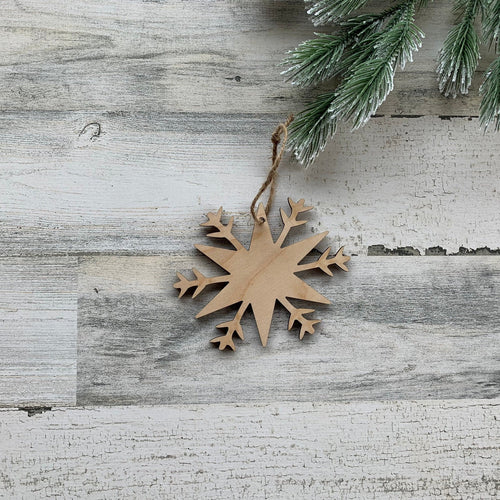 Wood Snowflake Christmas Tree Ornament Design 2  /  Christmas Snowflake Decoration  / Christmas Metal Sign  /  Home Decor / Holiday Gift