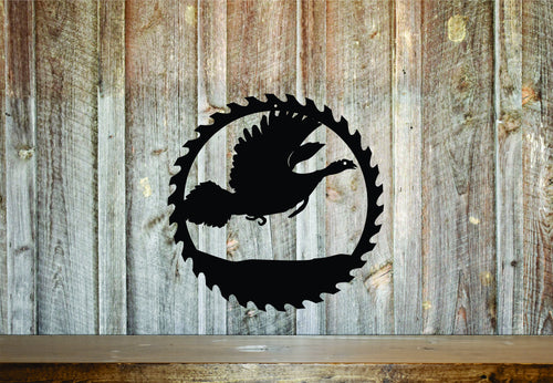 Turkey Circular Saw Sign Gift / Rustic Home Decor / Outdoorsman Gift / Wood Working Sign / Metal Shop Sign / Garage Saw Sign / Wildlife