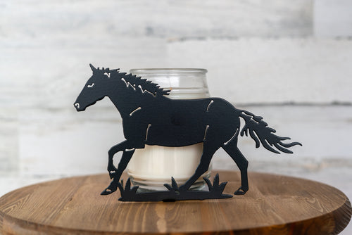 Metal Horse Candle Holder / Horse Home Decor / Metal Candle Art / Metal Art / Housewarming Gift / Horse Lover Present