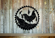 Chicken Circular Saw Sign Gift / Rooster Home Decor / Outdoorsman Gift / Wood Working Sign / Metal Shop Sign / Garage Saw Sign /