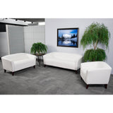 HERCULES Imperial Series White Leather Loveseat - OfficeChairCity.com