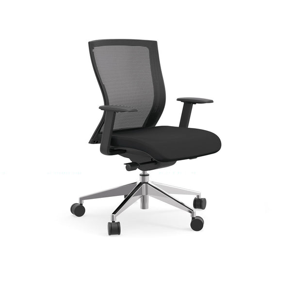 The iDesk Oroblanco mid-back mesh task chair is excellent for any workplace, home office, computer desk, and conference chair.
