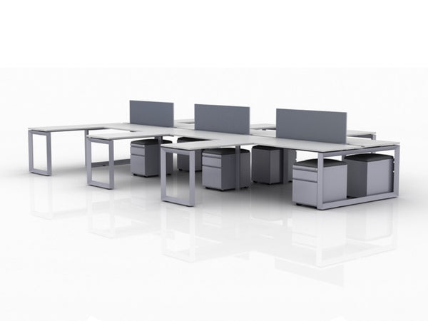AMQ 6 Person Office Workstations - 72″x30″