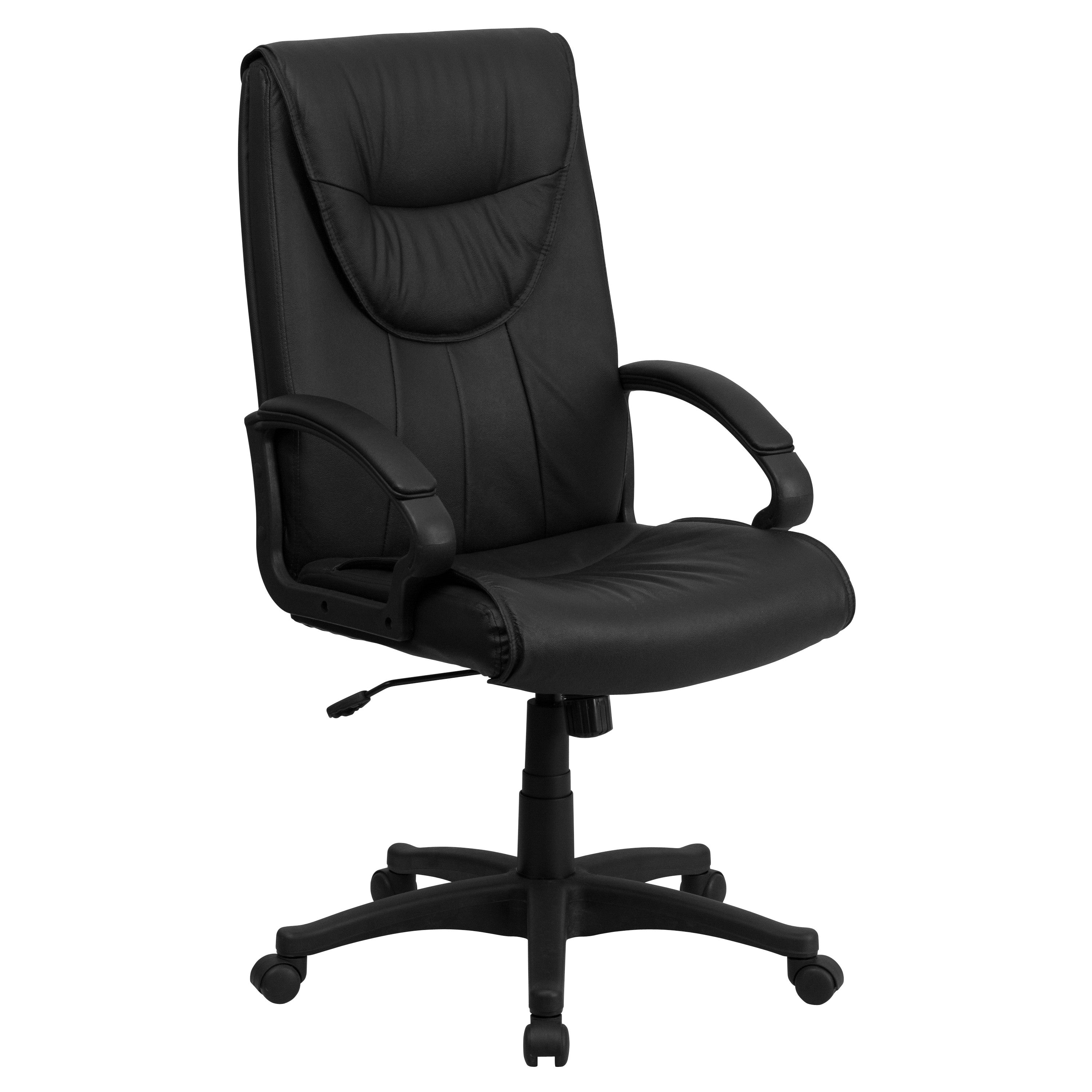 this leather upholstered office chair provides a appearance to complement your office or home