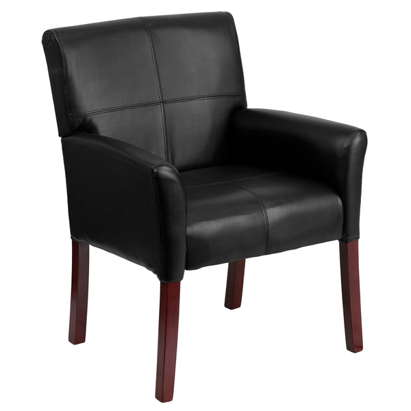 Office Chair City - Leather Executive Guest Chair, Reception Chair Black, Side Chair Office
