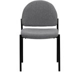 Comfort Gray Fabric Stackable Steel Side Reception Chair - OfficeChairCity.com